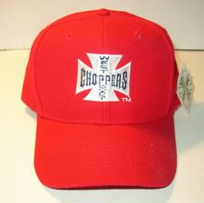 NWT West Coast Choppers Maltese Cross Red Baseball Cap Adjustable Strap