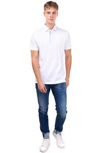 ANDREA FENZI Polo Shirt Size 50 / L Split Hem Short Sleeve Made in Italy