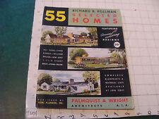 original MID-CENTURY MODERN: 55 SELECTED HOMES by Richard B Pollman 1952; 48pgs