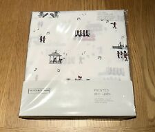 The Little White Company London Band Bed Linen Set, Size Cot Bed - NWT