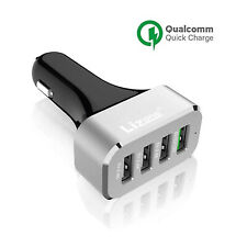 4-Port USB Car Charger Cigarette Lighter for iPad/iPhone/Samsung Galaxy Note 7/8
