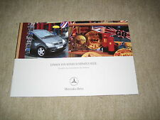 Mercedes A-Klasse Sondermodell Piccadilly W168 Prospekt Brochure von 8/2003