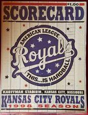 1998 Kansas City Royals Scorecard