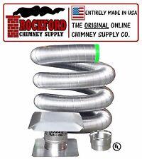 8 in. x 20 ft. Flexible Chimney Liner Insert Kit .006 316 Stainless Steel