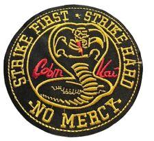 "Karate Kid Movie & TV Series Cobra Kia No Mercy 4"" Diameter Patch"