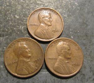 1921p 1923p 1924p Lincoln Wheat Pennies