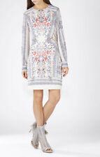BCBG MAXAZRIA Freya Long-Sleeve Scarf Print Tunic Dress,Gardniacom SIZE M