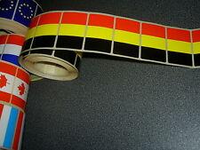 50 Drapeaux adhésifs BELGIQUE 37 x 22 mm, lot mini flags belge auto-collants
