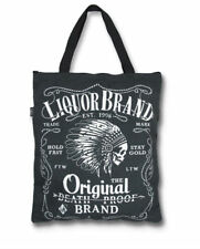 Liquor Brand Firewater Punk Tattoo Retro Vintage Tote Bag Handbag Purse TB-061