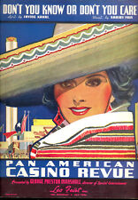 "PAN AMERICAN CASINO REVUE Broadway Show ""Don't You Know Or Don't You Care"" 1937"