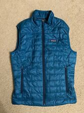 Men's PATAGONIA Nano Puff Insulated Vest SMALL Blue #84242 sleeveless polyester