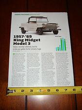 KING MIDGET MODEL 3 MINI MICRO CAR - ORIGINAL ARTICLE