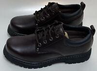 Skechers Men's Alley Cats Utility Oxford Dark Brown, Footwear
