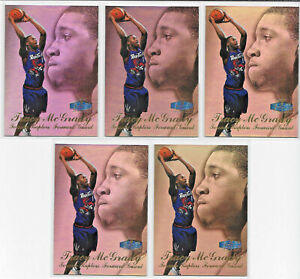 (5) CARD ROOKIE LOT 1997-98 TRACY McGRADY FLAIR SHOWCASE ROW 3 ROOKIE RC SP #21