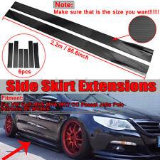 """86.6"""" Carbon Fiber Look Side Skirts Lip Rocker Splitter For VW Golf MK5 MK6 MK7"""