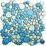 Mosaik Kiesel mix hellblau/hellgrün glänzend Fliesenspiegel Art:12-0401 10Matten