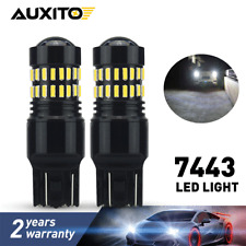 AUXITO 7443 7440 Tail Brake Stop Reverse Light Bulbs LED White Extreme Bright DO