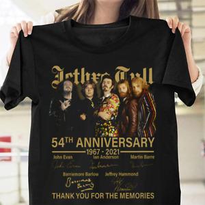 Jethro Tull 54th Anniversary Rock Band Fan Gift Retro Unisex T Shirt S-3XL Black