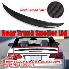 For BMW E93 335i 328i M3 2-DR Convertible Carbon Fiber Rear Trunk Spoiler Wing