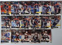 1991-92 Pro Set Series 1 Edmonton Oilers Team Set of 17 Hockey Cards