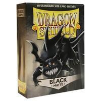 Dragon Shield Matte Black Card Protector Sleeves 60ct MTG Magic Pokemon ATM11202