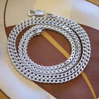 925 Solid Sterling Silver Franco Chain Necklace 2.5mm ITALY 925 Unisex