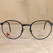 Vtg Retro NOS Round 80`s COTTET Frame Eyeglasses Glasses France Gray  Speckled ef47353a82