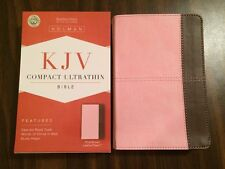 KJV Compact Ultrathin Bible - $19.99 Retail - Pink / Brown Leathertouch