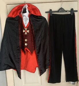Kids' HALLOWEEN Dracula Vampire Fancy Dress Costume Outfit Age 9-10 Years