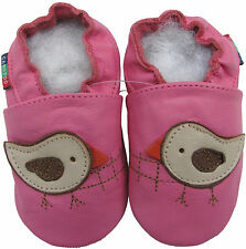 shoeszoo bird pink 2-3y S soft sole leather toddler shoes
