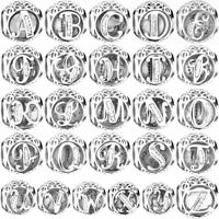 925 Silver New Sterling Letters Charms Bead For European Charm Bracelet Necklace