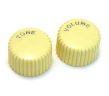 "(2) Harmony® Style Cream ""Cupcake"" V/T Guitar/Bass Knobs 6mm Split PK-3260-028"