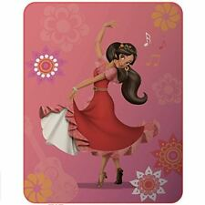 Disney 045052 Elena D'avalor Baila Plaid Polyester Rose 140 x 110 cm