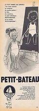 PUBLICITE ADVERTISING 114 1953 PETIT BATEAU sous vêtement pour enfants
