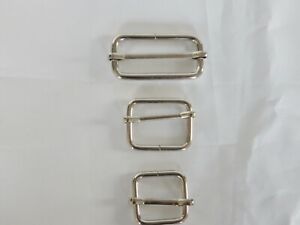Rectangle Sliders Chrome finish buckles for webbing: Internal 38mm - 25mm - 20mm