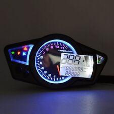 Universal Motorcycle LCD Digital Speedometer Odometer Tachometer Gauge Kmh/Mph