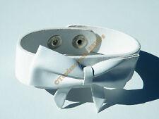 Bracelet Ceinture Simili Cuir Blanc Noeud Papillon Mode
