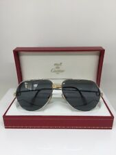 519b975c386b NEW VINTAGE CARTIER AVIATOR PLATINUM 62MM LARGE VENDOME SUNGLASSES FRANCE