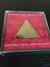 Doritos Chip Replica Gold Colored 50th Anniversary Edition  Fun Unique Gag Gift
