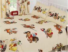 Single Bed Cream Thelwell Cartoon Horses Fun Trendy Duvet Cover & Pillowcase Set