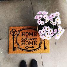 Home Sweet Home Key Coir Doormat PVC Welcome Anti Slip Rug Entrance Floor Mat
