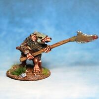 Ratman with polearm Skaven Warhammer Fantasy Armies 28mm Unpainted Wargames