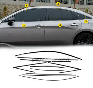 For Toyota Avalon 2019-2021 Black Stainless Car Window Molding Cover Trim 10PCS