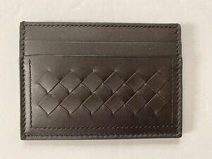 Men's Bottega Veneta Intrecciato Card Case Leather Espresso Color $260