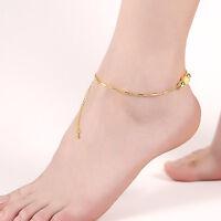 Women Chain Anklet Ankle Bracelet Barefoot Sandal Beach Foot Jewelry Gold Bead