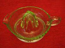 Green Vaseline Depression Glass Lemon Reamer Vintage