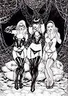 Black Cat, Mary Jane, Gwen Stacy by Alisson - Ed Benes Studio
