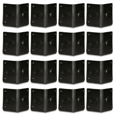 Goldwood Sound GC-402 Black ABS Plastic Cabinet Corners Set of 16 Stackable