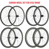 Disc Brake Wheelset 30/40/45/55mm Clincher Carbon Cyclocross Wheels Road Bike