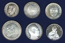 SWITZERLAND SILVER MEDALS, LOT OF (6): HEINRICH ANGST, KONRAD ADENAUER,